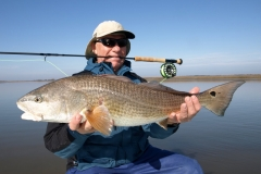 red-fish-with-fly-rod